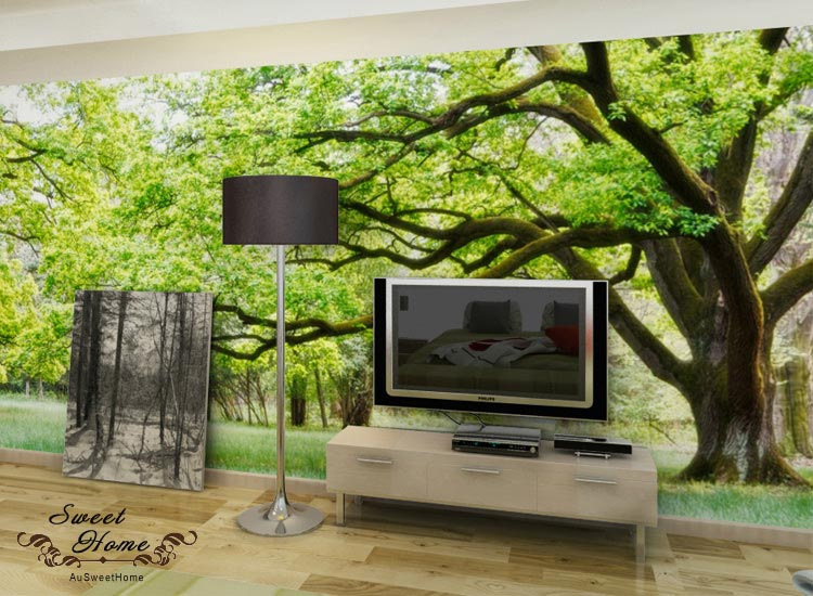 Heaven trees full wall mural large wall print decal for Tapisserie murale de luxe