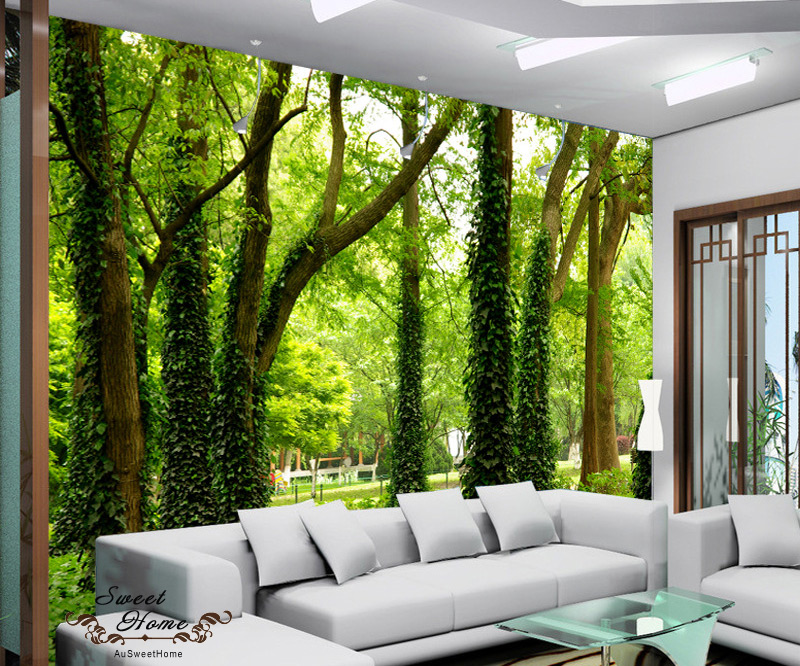 3d nature tree landscape wall paper wall print decal decor indoor wall mural au ebay. Black Bedroom Furniture Sets. Home Design Ideas